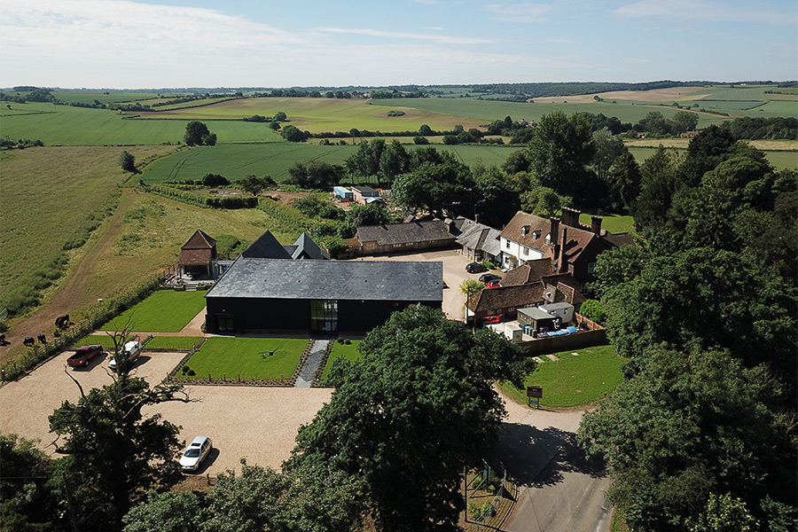 Redcoats, Hertfordshire wedding venue, drone shot | JN Sounds